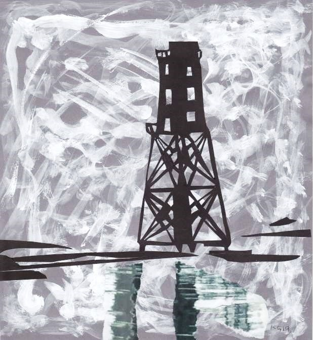 Schwarzer Leuchtturms